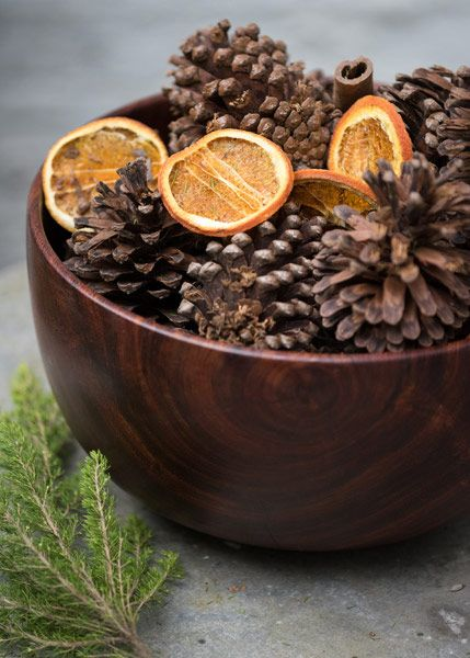 Buy Orange and cinnamon scented cones: Delivery by Waitrose Garden in association with Crocus