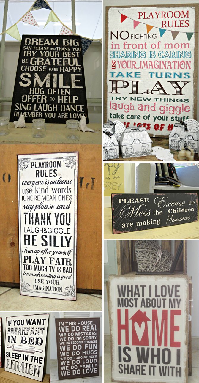 Rules for your family... Hessian signs