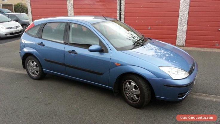 2002 Ford Focus hatchback 1.6 blue full service history #ford #focusflight #forsale #unitedkingdom