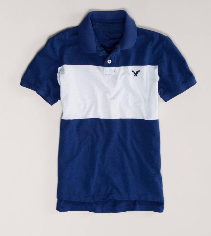 AE Striped Jersey Polo