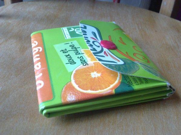 Un porte-monnaie en brique de lait ou jus de fruit,Depuis letemps que je…