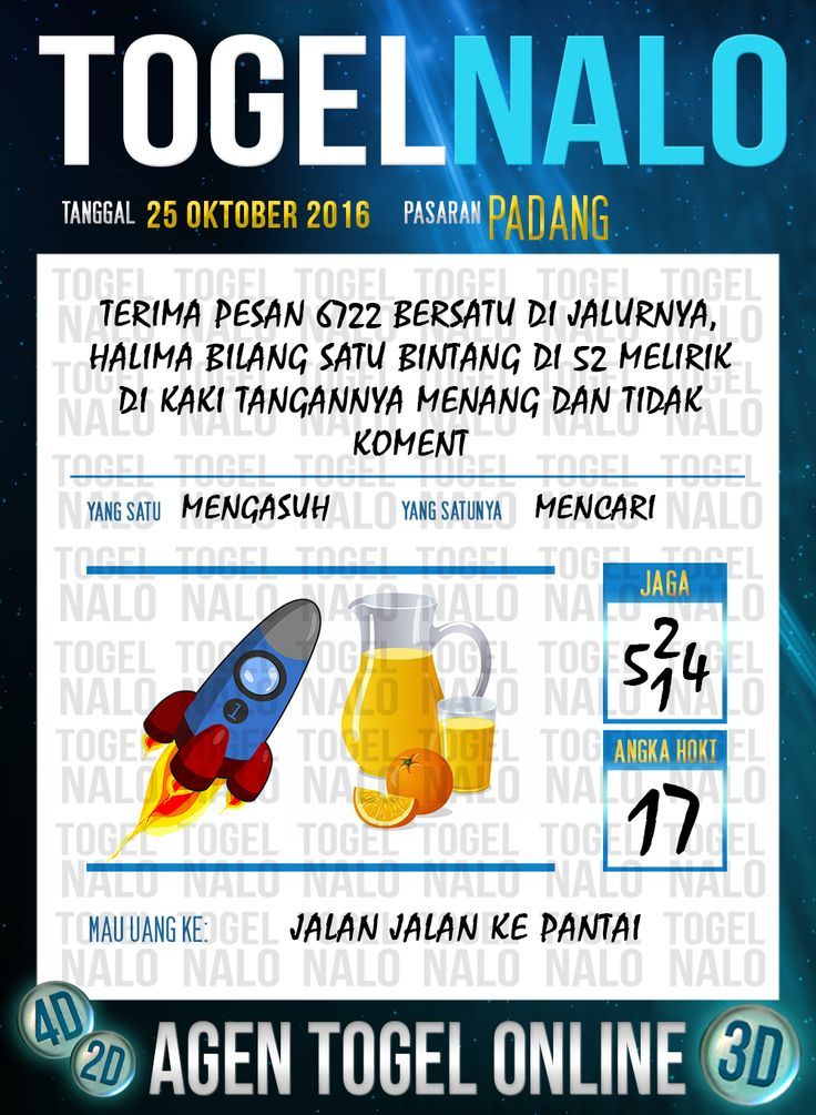 Tafsir Syair Togel Wap Online Live Draw 4D TogelNalo Padang 25 Oktober 2016