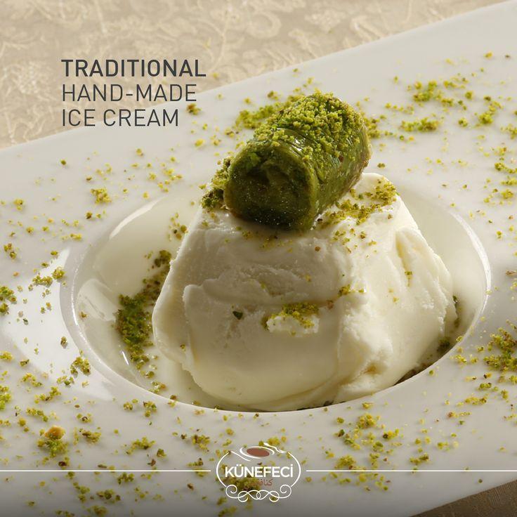 Turkish Traditional Hand-Made Ice Cream by Künefeci™... ''Ice-cream like no other!'' #icecream #handmade #traditional #Turkish #kunefe #kanafeh #Künefeci #Bahrain #SaudiArabia #Turkey #pinterest