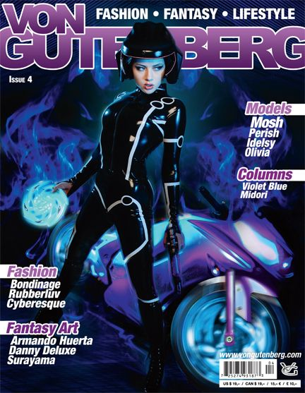 Von Gutenberg Issue 4 better than ever with MOSH in stunning latex from Polymorphe, ego assassin and Atsuko Kudo. Fetish superstar Perish in never published photos and exclusive interview. Aisl, Olivia and Idelsy in extraordinary outfits show the beauty of this fantasy lifestyle. <br /> <br />VON GUTENBERG, issue 4 is inspired by fantasy, futuristic ideas and a...