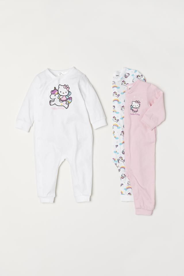 6b80d6e00 3-pack Jumpsuits | Baby | Pink jumpsuit, Baby jumpsuit, Pink hello kitty