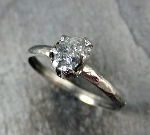 raw rough uncut diamond engagement ring rough by byangeline 62500