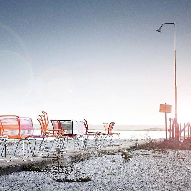 Take it outside☀️The Panton One chair. #montanafurniture #danishdesign #pantonone #panton #outdoorfurniture