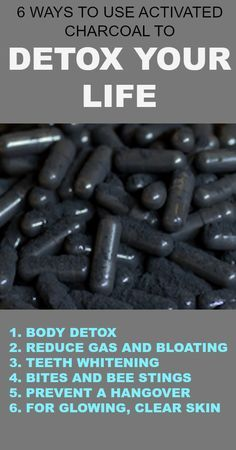 6 Ways to Use Activated Charcoal to Detox Your Life : Activated charcoal can be used at home for things daily detox, digestive issues, whitening teeth, brightening the skin, and more.