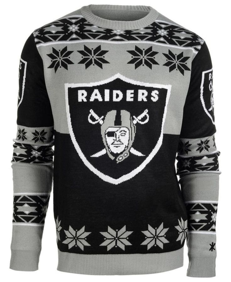 Forever Collectibles Men's Oakland Raiders Big Logo Christmas Sweater