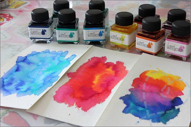 Review Action Liquid Watercolor Lijkt Op Ecoline Kleurrijke