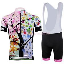 Women Cycling Bike Short Sleeve Clothing Set Bicycle Wear Jersey Shorts S-3XL
