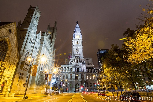Philadelphia Downtown at night