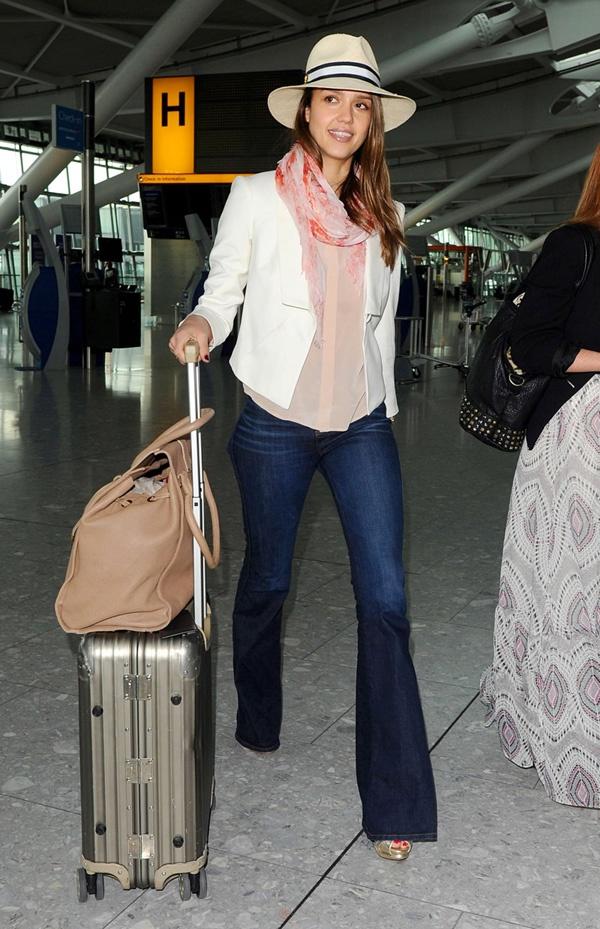 jessica-alba-j-brand-travel #travel #fashion