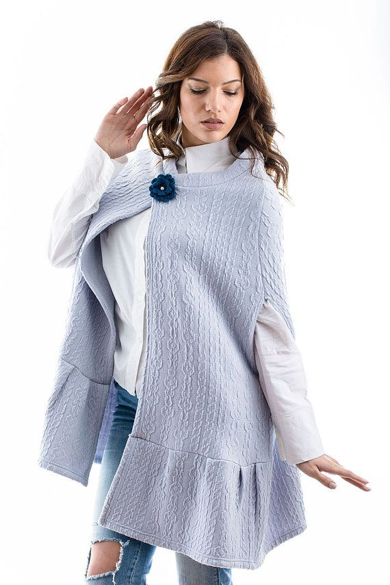 Light Blue Cape  Anyone would tell that this light blue cape is super stylish! You are going to choose a great and trendy piece for the upcoming