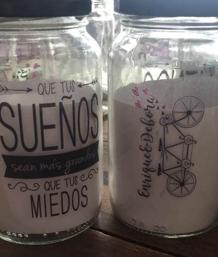vasos frasco tragos,frases souvenir con tapa y sorbete