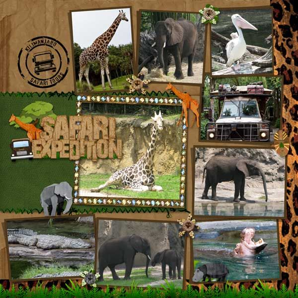 Disney Animal Kingdom {pinned by www.thedisneykids.com} #DisneyScrapbooking #DisneyScrapbook