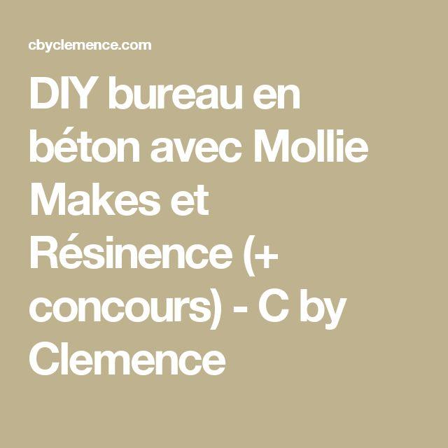 DIY bureau en béton avec Mollie Makes et Résinence (+ concours) - C by Clemence