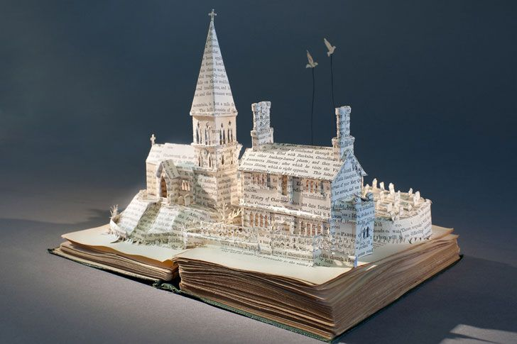 by Paper Artist Su Blackwell: Books, Book Art, Bookart, Su Blackwell, Paper Art, Paper Sculpture, Paperart, Altered Book