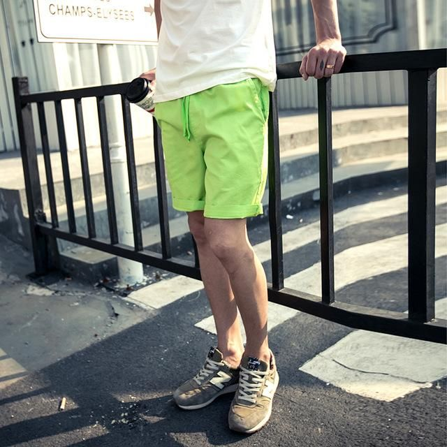 Casual Khaki Men Shorts