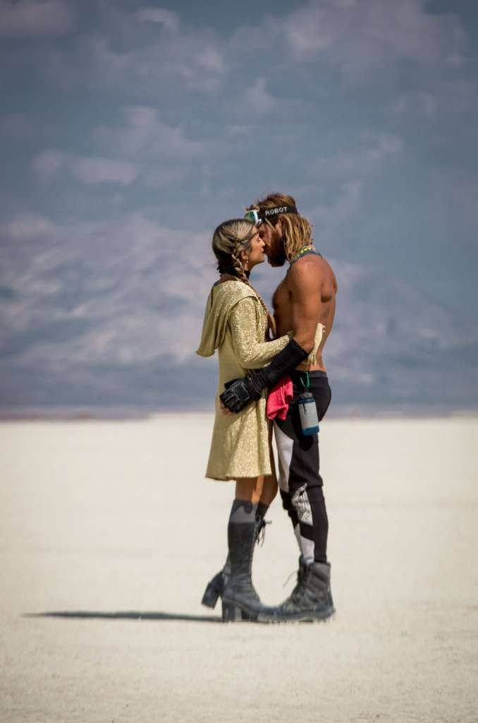 Participants attend Burning Man 2016, the largest outdoor arts festival  in…