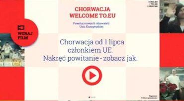 1 lipca Chorwacja staje się częścią Unii Europejskiej. Traktat akcesyjny podpisano w czasie, gdy Polska sprawowała prezydencję w Radzie UE. Z tej okazji, razem Ministerstwem Spraw Zagranicznych RP organizujemy akcję CHORWACJA WELCOME TO EU.  Zachęcamy Was do nakręcenia kilkusekundowych filmików z powitaniem Chorwacji w UE. A warto się przywitać...
