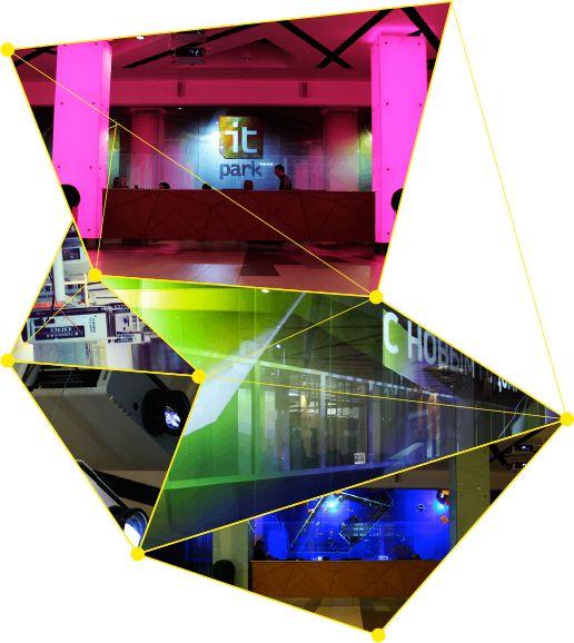 Первая в мире проекция на прозраное стекло by Fantasy Technology
