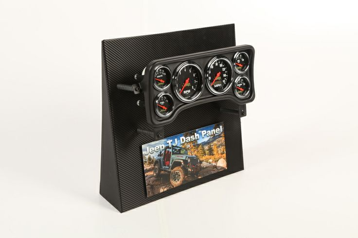 A complete performance replacement solution for the Jeep TJ/XJ instrument cluster featuring a complete wiring harness and easy installation of nearly any Auto Meter gauges.
