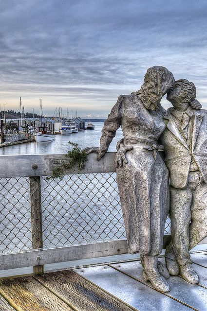 """The Kiss"" at Percival Landing, Olympia, Washington"