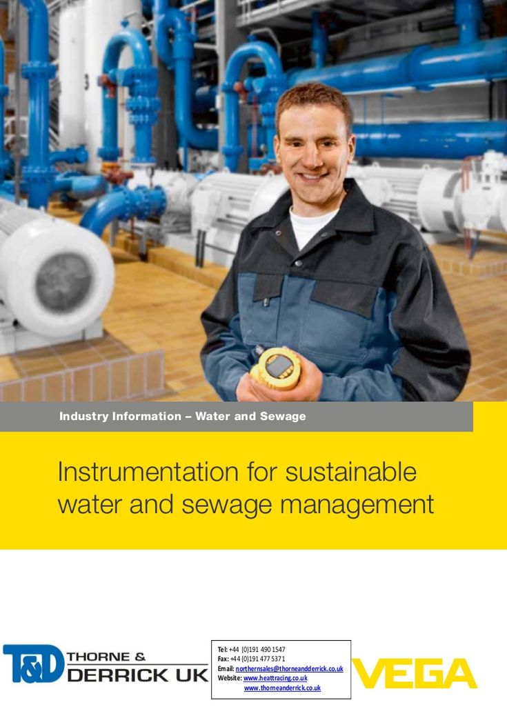 VEGA Pressure & Level Measurement  - Waste Water Industry Applications by Thorne and Derrick UK (Mechanical and Process Industry Equipment) via slideshare