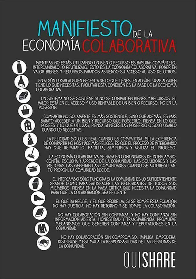 #manifiesto #economiacolaborativa