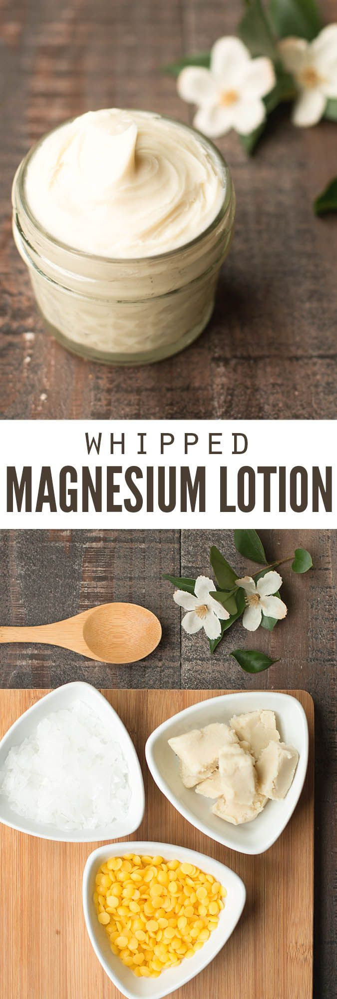 This magnesium lotion is a miracle worker. I sleep better, have less anxiety and I'm happier to be around too! The recipe is incredibly easy and ready in just 15 minutes! :: DontWastetheCrumbs.com