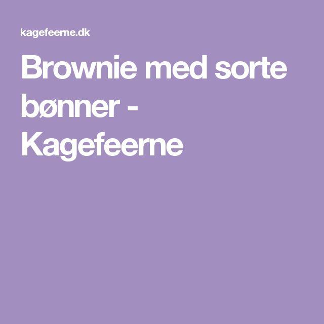 Brownie med sorte bønner - Kagefeerne