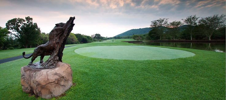 Golf course at Leopard Creek Golf Resort, Malelane, Mpumalanga, South Africa