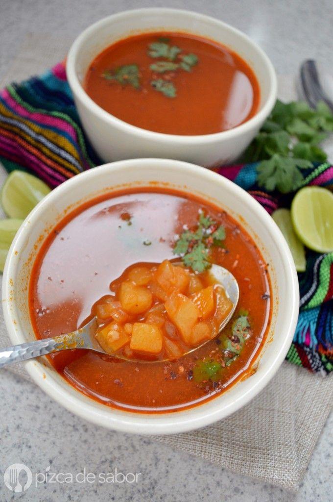Cómo hacer un caldo de camarón | http://www.pizcadesabor.com