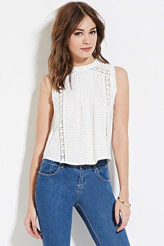 Crochet High-Neck Top | Forever 21 - 2000185627