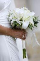 Casablanca Bruidsboeket Witte Lelies #WTHND001