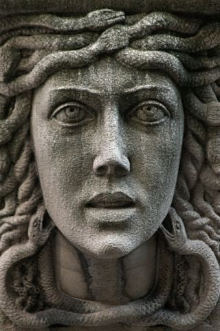 """Medusa (Greek: Μέδουσα """"guardian, protectress"""") 