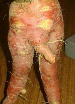 Een skeuwe patat