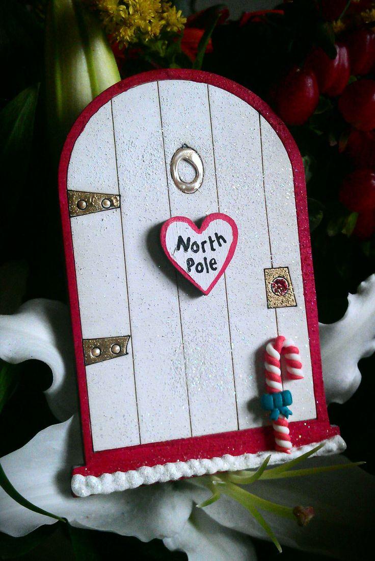 Christmas Elf Fairy 10cm magical Door by TheFairiesWorkshop, £5.60