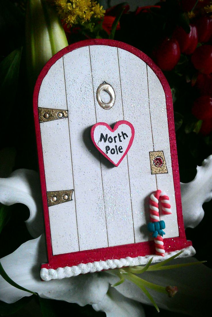 Christmas Elf Fairy 10cm magical Door by TheFairiesWorkshop, £5.60