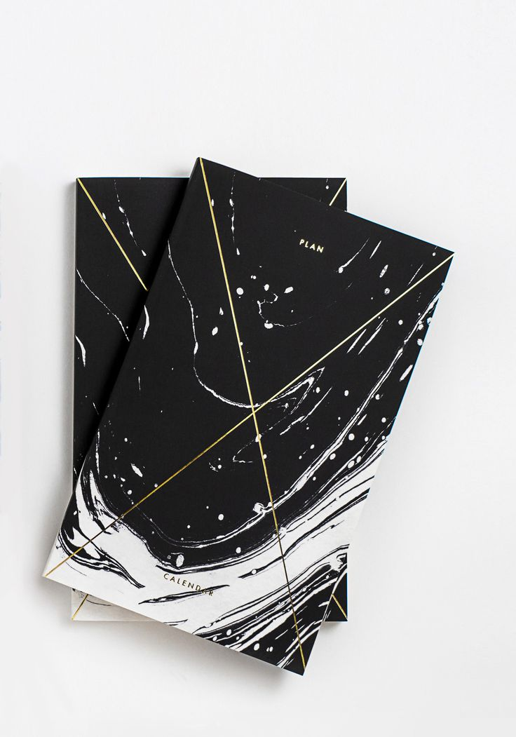 Adore this planner-- Gold Foil Any-Year Daily Planner - Marble Black