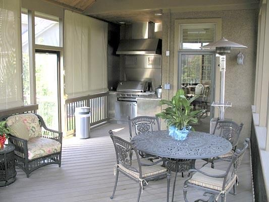 Screen Porch With Outdoor Kitchen Primitive Outdoor