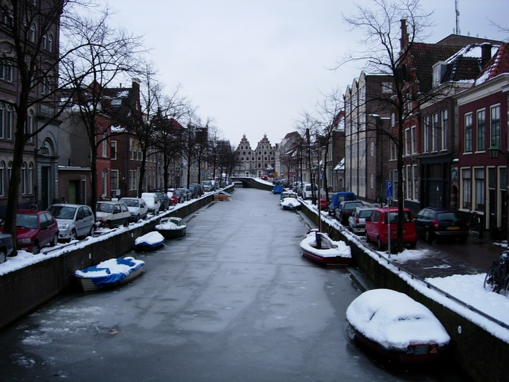 Frozen canal, Haarlem, Netherlands, March 2005