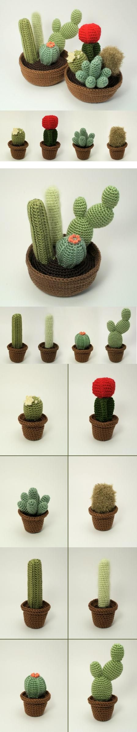 http://www.planetjune.com/blog/cactus-collection-crochet-patterns/ Hermosos…
