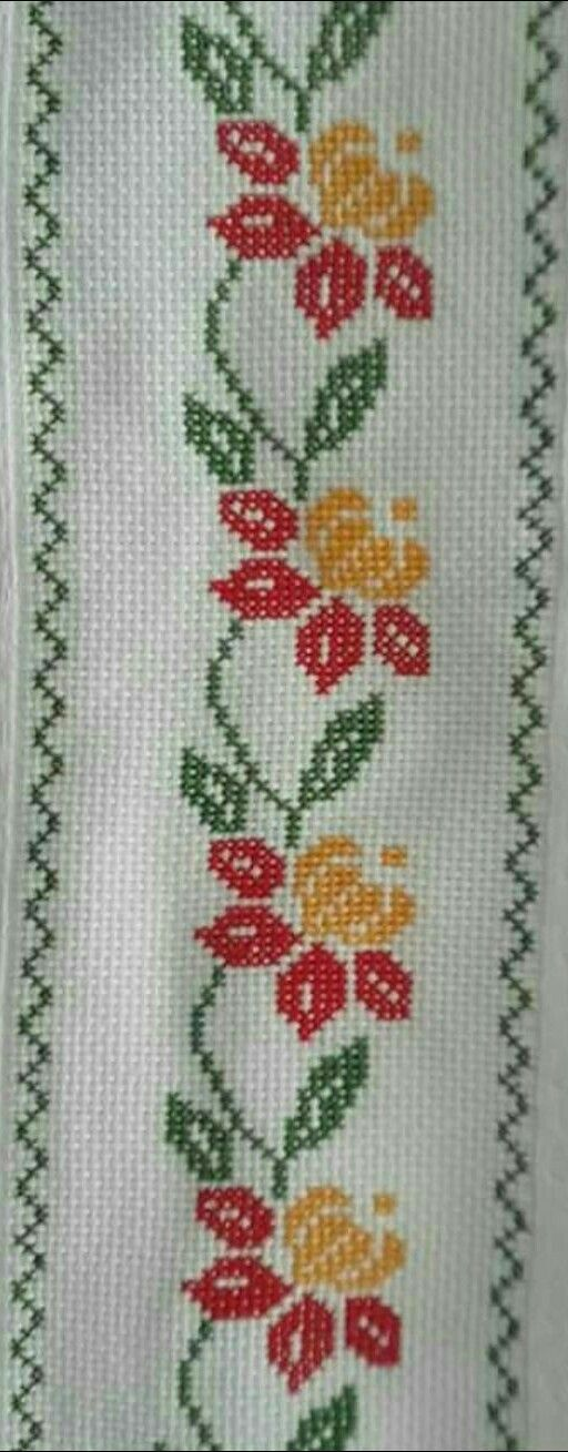 Blumenranke [] # # #Sny, # #Embroidery, # #Cross #Stitch, # #Beautiful, # #Flower