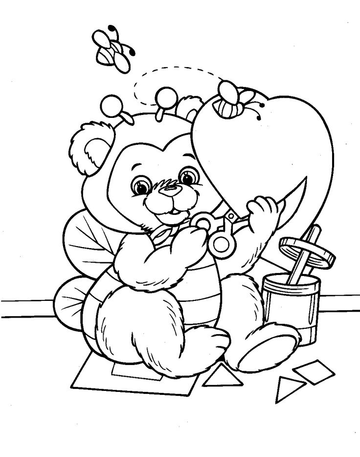 New Coloring Pages Of Valentines Day