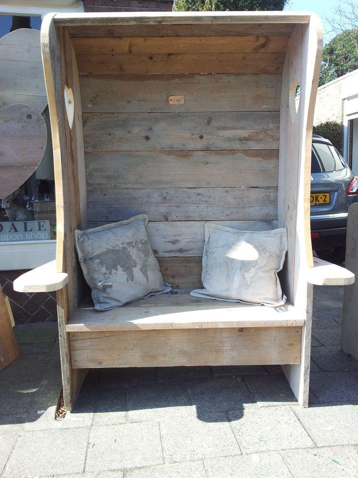 "Steigerhouten strandstoel ""Love-Seat "" hand made b…"