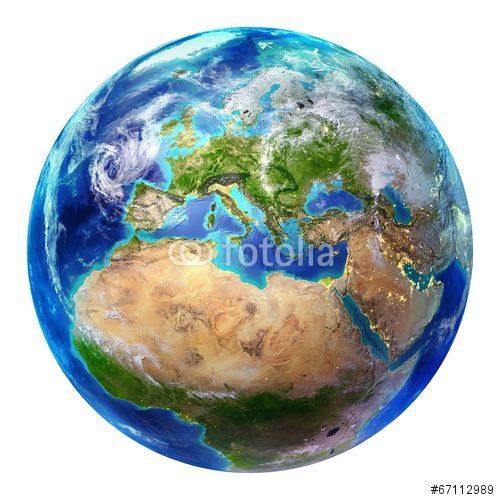 earth Europe - isolated