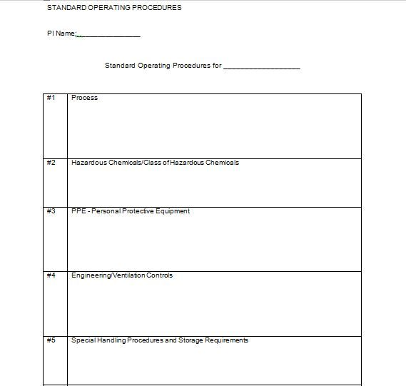 Best 25+ Standard operating procedure template ideas on Pinterest - procedure manual template for word