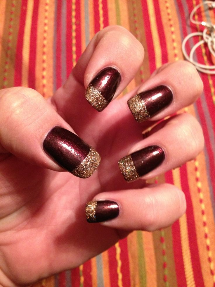 #glitter #autumn #maroon #nails #brown #goldautumn nails maroon
